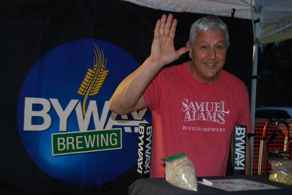 Brewery Vendor Waving