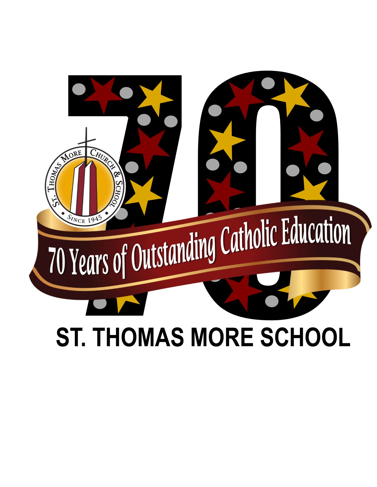 St. Thomas More School 70th Anniversay Logo