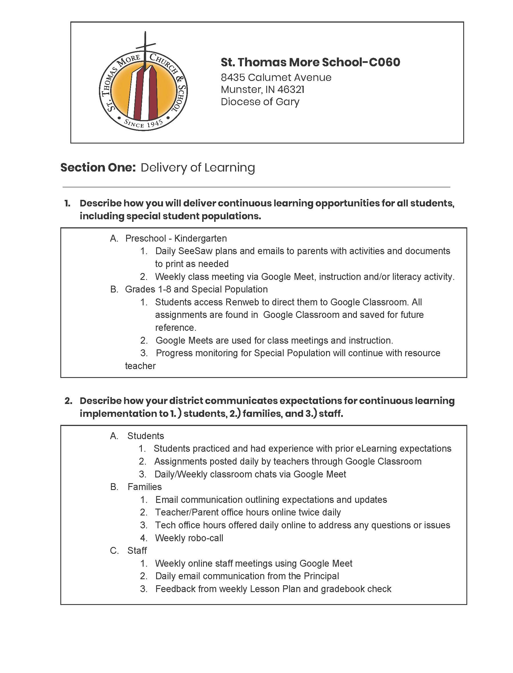 Continuous Learning Plan Page 1