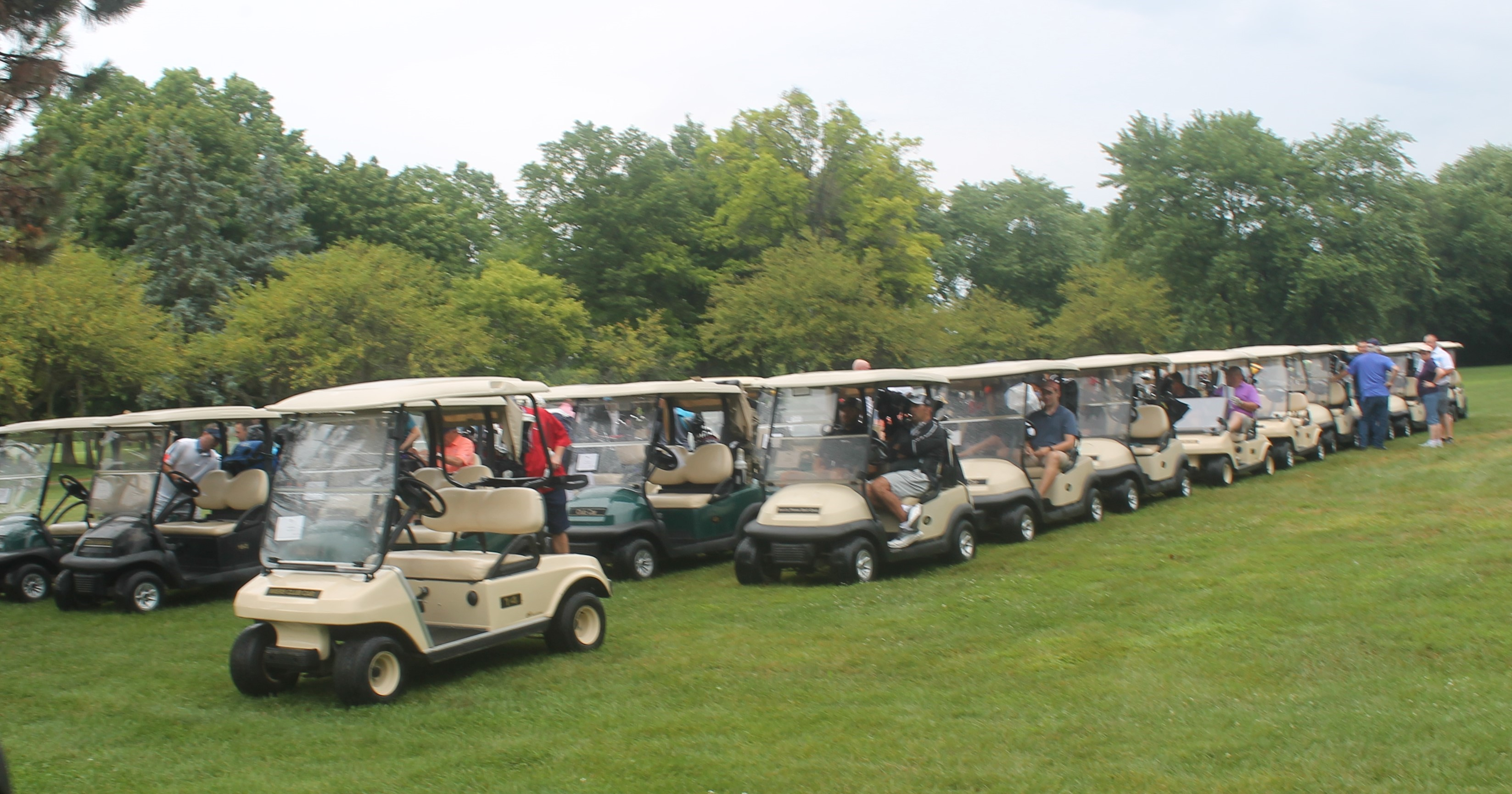 Golf Outing: carts ready to roll!