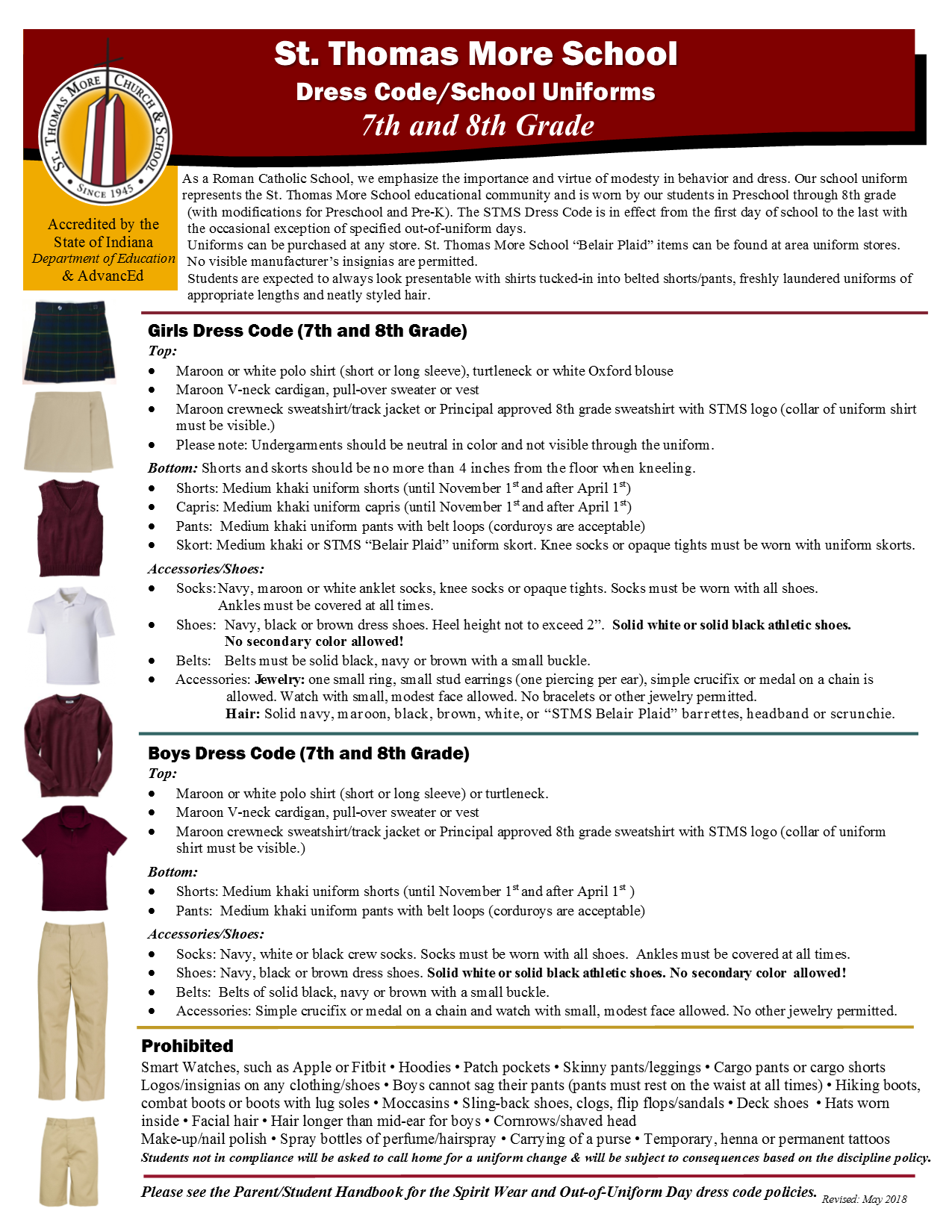 Uniform Policy for 7th and 8th Grade